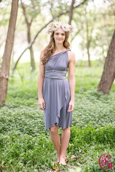 Short Gelique Convertible Dress with a Tulip Skirt Tulip Skirt, Convertible Dress, Infinity Dress, Different Styles, Tulips, Wrap Dress, Bridesmaid, Lady, Skirts