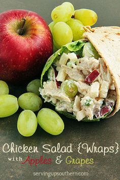 Chicken Salad With Apples & Grapes   Serving Up Southern