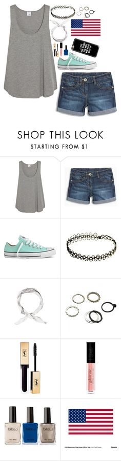 """My outfit of the day (also basically what I'm wearing today) happy Memorial Day guys! ❤️"" by basketball-girl-17 ❤ liked on Polyvore featuring Iris & Ink, Converse and Casetify"