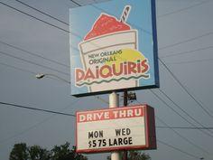 Drive through daiquiri shop!