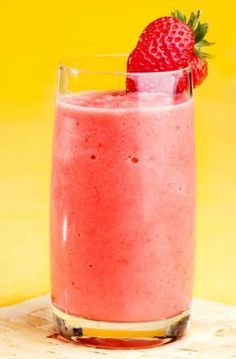 Peach Strawberry Smoothie Recipe        1 cup water      1 cup fresh or frozen peach slices      1 cup fresh or frozen strawberries      1/2 cup yogurt (or almond milk)      1/2 teaspoon cinnamon        The Add-ons        1/2 cup fresh or frozen blueberries      1 cup spinach or other leafy green vegetable      1 tablespoon coconut oil      1 serving of your preferred protein powder
