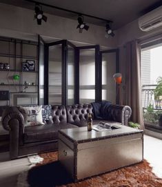 masculine interior design and room decorating ideas