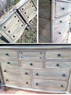 Custom Distressed Gray Bedroom Set #Graybedroom #Set