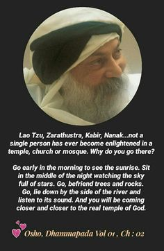Osho: Nobody has ever become enlightened by going to place of worship