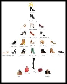 a tree of shoes