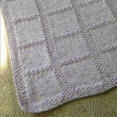 Handmade Knitted Baby Blanket This baby blanket is so darn cute. Great for babies to keep them warm during the frigid winter! **I ALSO HAVE THIS IN BLUE IF INTERESTED** Other