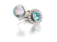 A Keshi Pearl And A Paraíba Tourmaline Ring