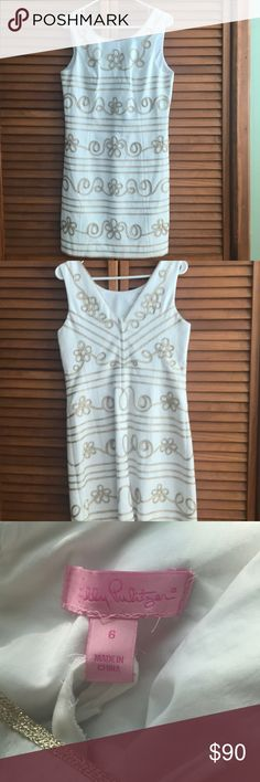 White and Golf Lilly Pulitzer Dress Worn once, in excellent condition! Lilly Pulitzer Dresses