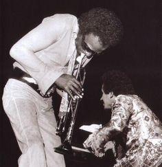Miles Davis and Keith Jarrett