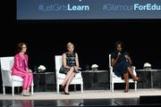 """(L-R) Former Australian Prime Minister Julia Gillard, Founder of Charlize Theron Africa Outreach Project and U.N. Messenger of Peace Charlize Theron and First Lady of the United States Michelle Obama join Glamour """"The Power Of An Educated Girl"""" panel at The Apollo Theater on September 29, 2015 in New York City."""