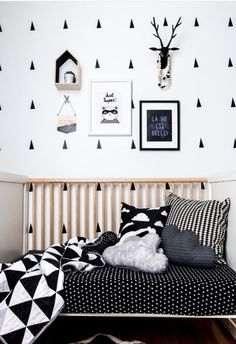 Babies, so little yet fill our hearts with so much love. This beautiful modern quilted blanket will wrap them in softness and warmth. Whether for your own little bundle of joy or as a gift this quilt will be treasured for a longtime to come. It is made using a black and white triangle