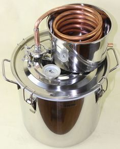 Copper Alcohol Moonshine Still Spirits Distiller Brew Kit Spirits Boiler in Beer & Wine Making Homemade Alcohol, Homemade Liquor, Moonshine Still, Making Moonshine, Home Distilling, Still Spirits, Wine Making Supplies, Home Brewery, Brewing Equipment