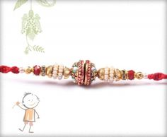 Mauli #Rakhi Collection 2015 – Send  #Rakhi to #India, #USA, #UK, #Canada, #Australia, #Dubai #NZ #Singapore. Antique Design Rakhi with Red Thread, surprise your loved ones with roli chawal, chocolates and a greeting card as it is also a part of our package and that too without any extra charges.  http://www.bablarakhi.com/send-fancy-rakhi-online/923-send-antique-design-rakhi-with-red-thread-online.html