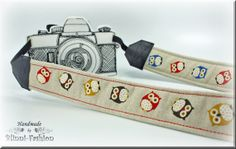 Hey, I found this really awesome Etsy listing at https://www.etsy.com/listing/157248912/owl-camera-strap-dslr-camerastrap-brown
