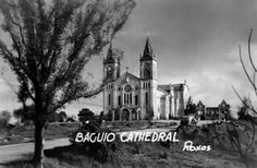 Baguio Cathedral just after WWII showing some war damage. Notice the burnt out building behind, Baguio, Philippines Baguio Philippines, Wwii, Cathedral, Building, Travel, Viajes, World War Ii, Buildings, Traveling