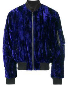 HAIDER ACKERMANN Velvet Bomber Jacket. #haiderackermann #cloth #