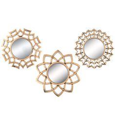 Gold Metallic Mirror Set