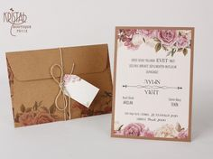 - 1 Printed Wedding Invitation With Envelope & Garden Wedding Invitations, Wedding Inspiration, Bouquet, Place Card Holders, Floral, Cards, Erdem, Weddings, 15 Years