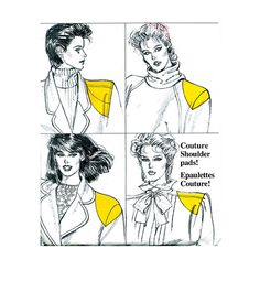 1980s VOGUE SHOULDER PADS Pattern Shoulder Covers, Sleeve Puffs One Size Fits All 7 Styles UNCuT Vintage Vogue 8817 Womens Sewing Patterns