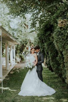 stolen moments between the bride + groom #wedding #brideandgroom