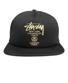 Stussy - World Tour Trucker Ballcap - $24