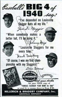 The best! Retro Advertising, Ads, Special Olympics, Louisville Slugger, My Old Kentucky Home, Social Awareness, Sports Figures, I Win, Old Photos