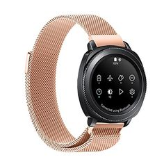 Tiean For Samsung Gear S4, Magnetic Mesh Loop Milanese Stainless Steel Bracelet Strap (Rose Gold) #Tiean #Samsung #Gear #Magnetic #Mesh #Loop #Milanese #Stainless #Steel #Bracelet #Strap #(Rose #Gold)