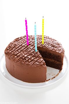 Chocolate Cake with Chocolate Buttercream Frosting - Cooking Classy