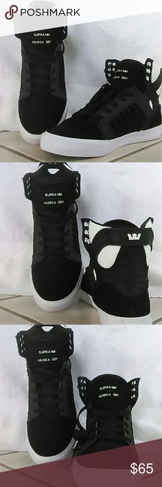 Supra musk 001 shoes Black and white never wore. They weren't my style. Supra Shoes
