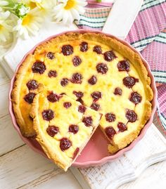 Kirsch Pudding Schmand Kuchen - Powered by @ultimaterecipe