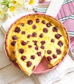 Kirsch Pudding Schmand Kuchen