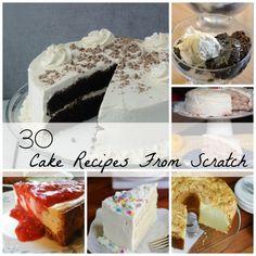 Homemade Cake Recipes From Scratch, 30 amazing recipes!