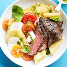 Caprese Pasta and Steak From Better Homes and Gardens, ideas and improvement projects for your home and garden plus recipes and entertaining ideas.