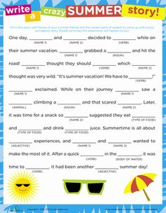 "Got a kid crazy for Mad Libs? This summertime edition of the classic kid's game works on writing ""hardware"" that kids encounter in later elementary years."