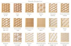 Japanese wood work patterns
