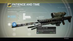 Destiny Exotic Sniper Patience and Time