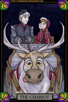 We see snowmen in your future with these awesome 'Frozen' tarot cards