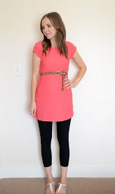 Simple tutorial for a knit tunic. I need some shirts that I can wear with leggings!