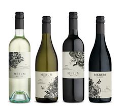 Beautiful wine labels by Manifesto Design. #packaging