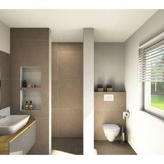 Best Indoor Garden Ideas for 2020 - Modern Beige Bathroom, Small Bathroom, Contemporary Bathroom Designs, Small Hallways, Bathroom Interior Design, Sweet Home, New Homes, House, Hallway Ideas