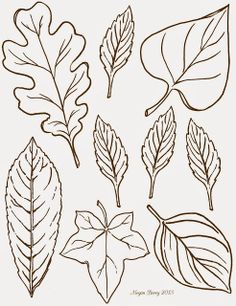 fall leaf pattern printables fall leaves and craft paint