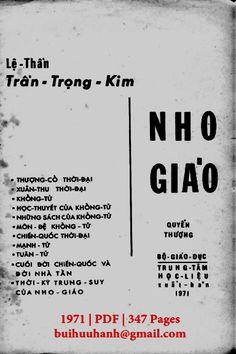 Nho Giáo Tập 1 (NXB Bộ Giáo Dục 1971) - Trần Trọng Kim, 347 Trang   Sách Việt Nam