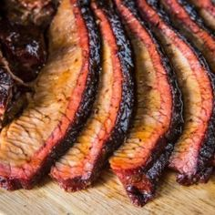 We're bringing you the best BBQ smoked Texas brisket recipe step by step with tips. Low and slow, seasoned with a savory spice blend for a surefire brisket. Learn how to smoke a beef brisket with this simple and easy recipe. Ditch the slow-cooker, it's al Texas Brisket, Bbq Brisket, Smoked Beef Brisket, Smoked Ribs, Traeger Brisket, Brisket Sides, Best Smoked Brisket Recipe, Brisket Marinade, Traeger Smoker