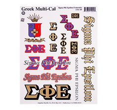 Sigma Phi Epsilon Waterslide Crest & Letter Combinations