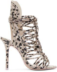 1b39e30aca3a Sophia Webster Tan Camo Lacey Heels Gladiator Heels