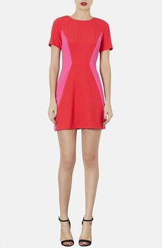 Topshop Colorblock Sheath Dress available at #Nordstrom