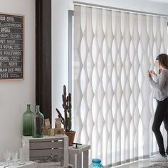 Electrical Vertical Blinds are an ideal window covering in any home, office, or public building. Sliding Door Blinds, Blinds For Windows, Curtains With Blinds, Windows And Doors, Family Room Curtains, Sheet Curtains, Slider Window, Curtain Designs, Window Coverings