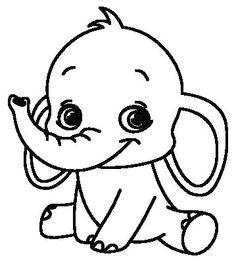 Kleurplaten Baby Olifant.924 Beste Afbeeldingen Van Olifant Tekening In 2019