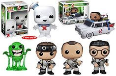 Ghostbusters Funko Pop! Vinyl Figure Movie Toy w/ Slimer, Ecto 1 & Winston Collector Set of 6     Includes:     * Dr. Peter Venkman  Action Figure   * Dr. Raymond Stantz Action Figure   * Dr. Egon Spengler Action Figure   * Slimer Action Figure   * Stay Puft Marshmellow Man Action Figure   * Ecto 1 Ambulance / Hearse Car with Winston Zeddmore Action Figure     The hit Ghostbusters film comes to wonderfully stylized life with this fantastic Pop Vinyl figure collector toy set!     The Ghos...