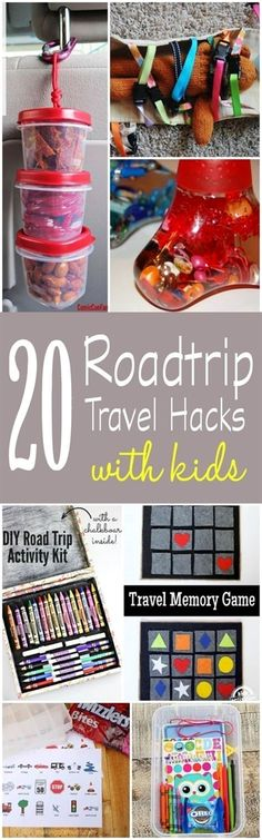 20 Travel Hacks for Roadtrips with Kids! If you are planning a family vacation, these travel tips and ideas are sure to keep your kids busy! #TravelTips